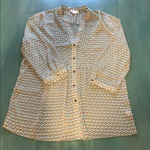 Charter Club 3/4 button down blouse.
